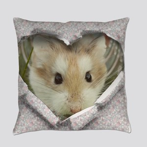 Peep Hole Hamster Everyday Pillow