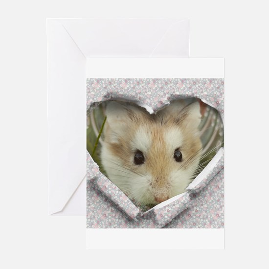 Peep Hole Hamster Greeting Cards