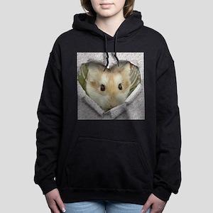 Peep Hole Hamster Women's Hooded Sweatshirt