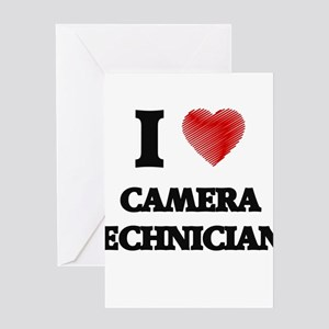 I love Camera Technicians (Heart ma Greeting Cards