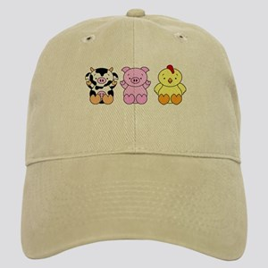 Cute Cow, Pig & Chicken Cap