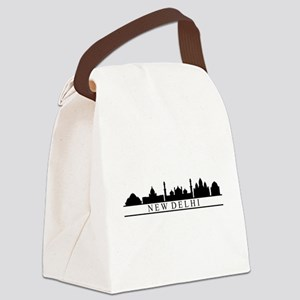 skyline new delhi Canvas Lunch Bag