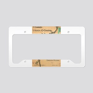 opera art License Plate Holder