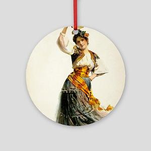 opera art Round Ornament