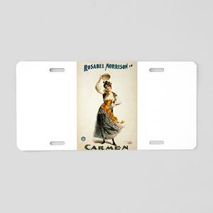 opera art Aluminum License Plate