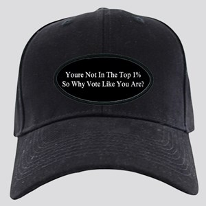 YOU'RE NOT IN THE TOP 1% ONE-PERCENT, WH Black Cap
