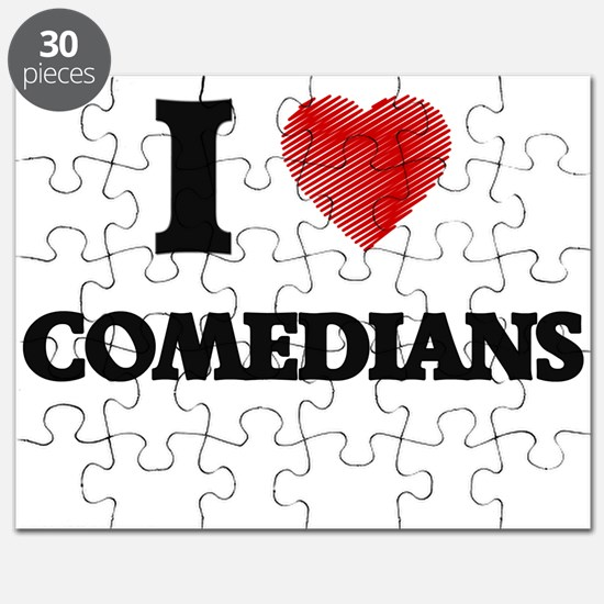 I love Comedians (Heart made from words) Puzzle