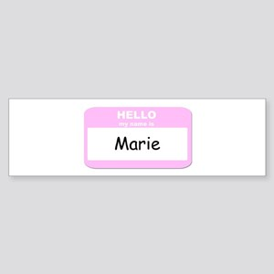 My Name is Marie Bumper Sticker