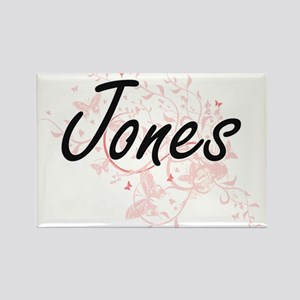 Jones surname artistic design with Butterf Magnets