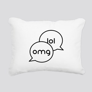 OMG LOL Text Bubbles Rectangular Canvas Pillow