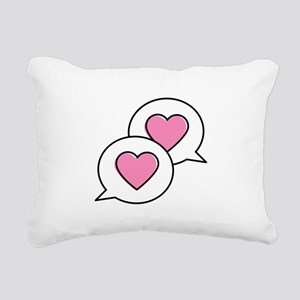 Love Chat Bubbles Rectangular Canvas Pillow