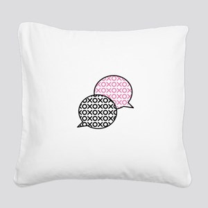 XO Chat Bubbles Square Canvas Pillow