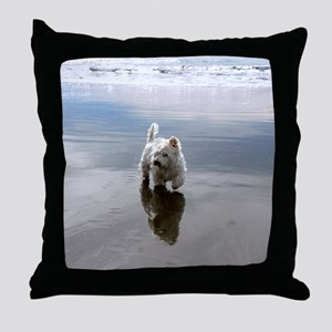 Beachcombing Westie 3 Throw Pillow