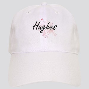 Hughes surname artistic design with Butterflie Cap