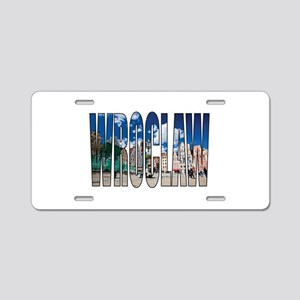Wroclaw Aluminum License Plate