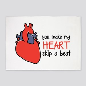 Make My Heart Skip 5'x7'Area Rug