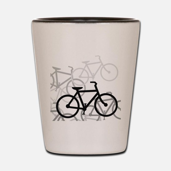 Bikes Shot Glass