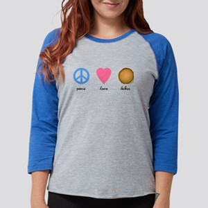 Peace Love Latkes Womens Baseball Tee