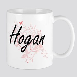 Hogan surname artistic design with Butterflie Mugs
