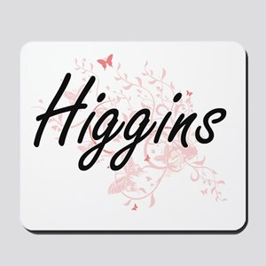 Higgins surname artistic design with But Mousepad
