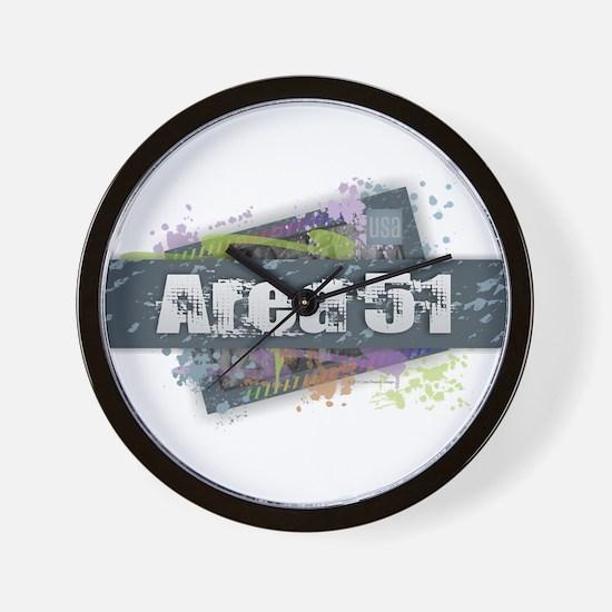 Area 51 Design Wall Clock
