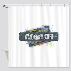 Area 51 Design Shower Curtain