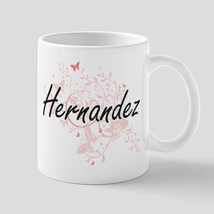 Hernandez surname artistic design with Butter Mugs