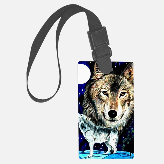 Cute Wolf woods Luggage Tag