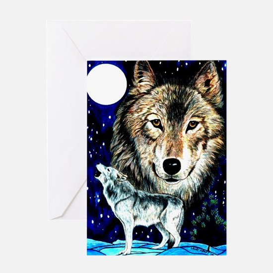 Funny Wolf woods Greeting Card