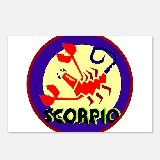 Unique Black scorpion Postcards (Package of 8)