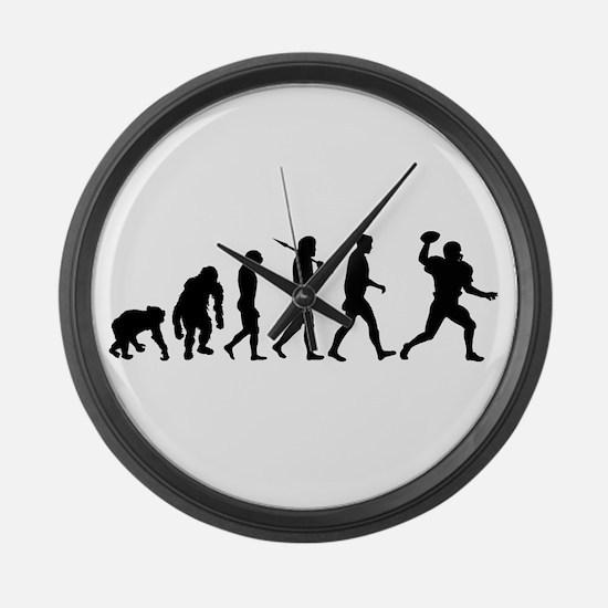 Evolution of Football Large Wall Clock
