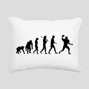 Evolution of Football Rectangular Canvas Pillow