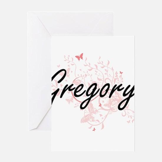 Gregory surname artistic design wit Greeting Cards
