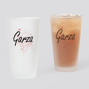 Garza surname artistic design with Drinking Glass