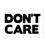 Don't care Postcards (Package of 8)