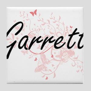 Garrett surname artistic design with Tile Coaster