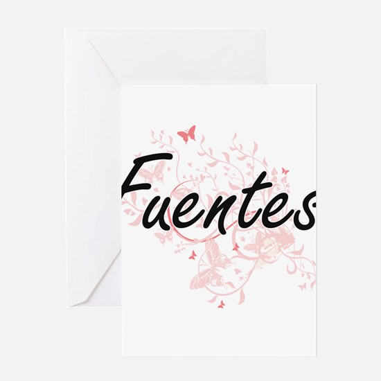 Fuentes surname artistic design wit Greeting Cards