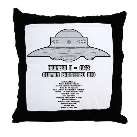 Haunebu II Flying Disc Throw Pillow