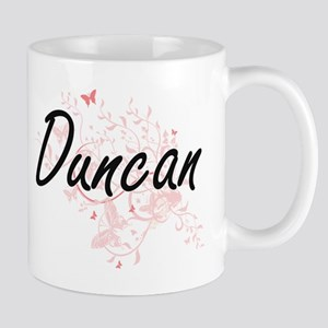 Duncan surname artistic design with Butterfli Mugs