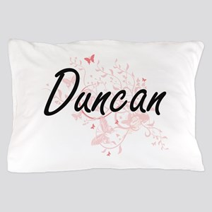 Duncan surname artistic design with Bu Pillow Case