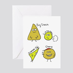 Cheese Puns Greeting Cards