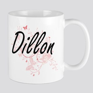 Dillon surname artistic design with Butterfli Mugs