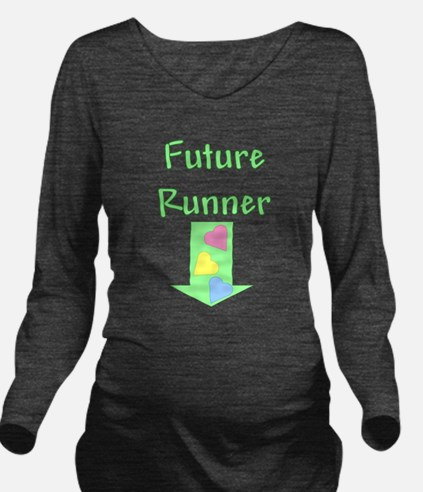 Cute Girl runner Long Sleeve Maternity T-Shirt