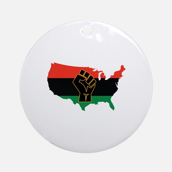 African American Round Ornament