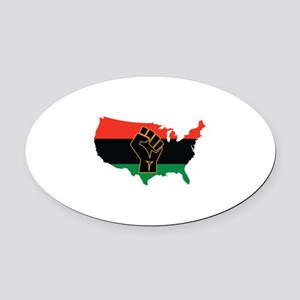 African American Oval Car Magnet