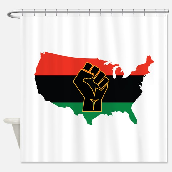 African American Shower Curtain