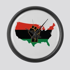 African American Large Wall Clock