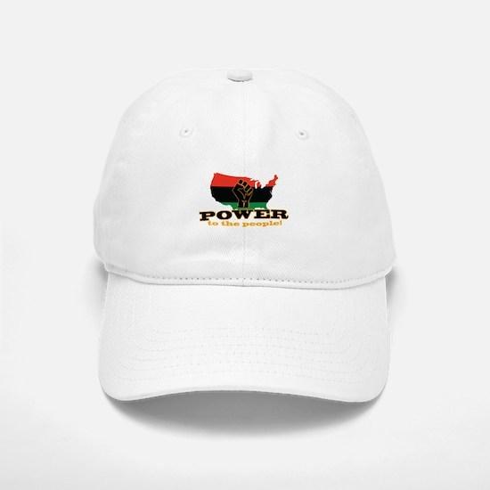 Power To People Baseball Baseball Baseball Cap