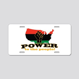 Power To People Aluminum License Plate