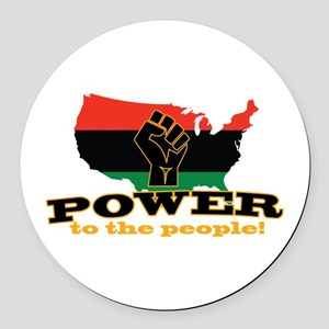 Power To People Round Car Magnet